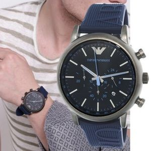 Emporio Armani Navy Mens Quartz Watch